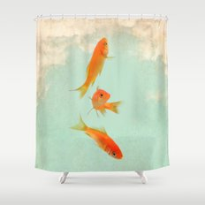Goldfish in the sky Shower Curtain