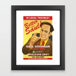 Better Call Saul Print Framed Art Print