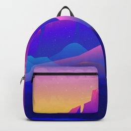 Marvelous Mountainscape At Gorgeous Sunset Purple Shade Ultra HD Backpack