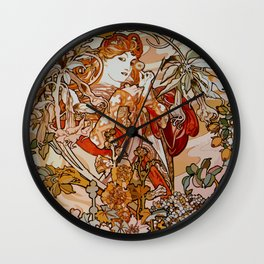 Art Nouveau design 2 Wall Clock
