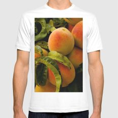 Peaches for me White MEDIUM Mens Fitted Tee