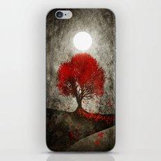 Red autumn. iPhone Skin