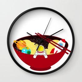 Space Odyssey Ramen | Astronaut Ramen | Bowl of Space Ramen | Galaxy in a Bowl | pulps of wood Wall Clock