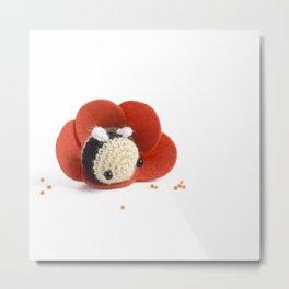 mini bee Metal Print