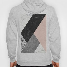 Black and White Marbles and Pantone Pale Dogwood Color Hoody