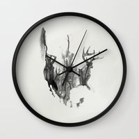 true detective Wall Clocks featuring True Detective USA by Roadtrippers