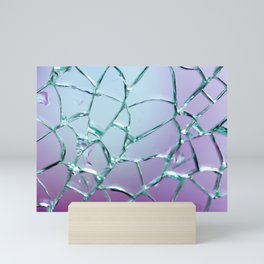 Shattered glass Mini Art Print