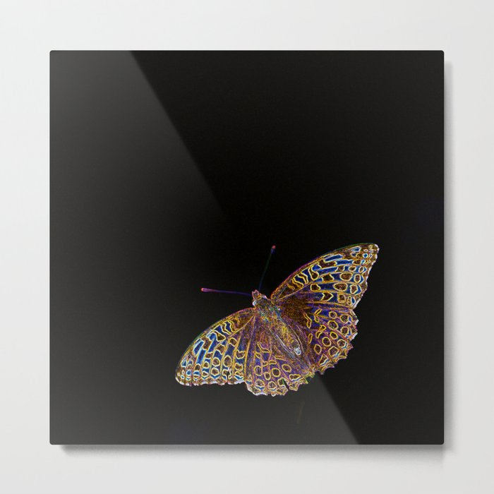 Butterfly on a black background #decor #society6 Metal Print