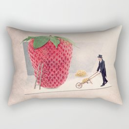 the strawberry seed-sticker Rectangular Pillow