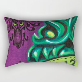 "Disneyland Haunted Mansion inspired ""Wall-To-Wall Creeps No.3""  Rectangular Pillow"