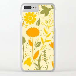 Bee Filled Field Clear iPhone Case