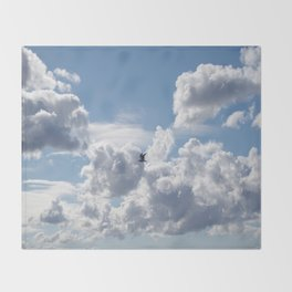 Free as a bird Throw Blanket