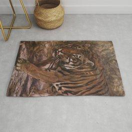 Vintage Tiger Painting (1909) Rug