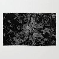 budapest hotel Area & Throw Rugs featuring Budapest by Line Line Lines