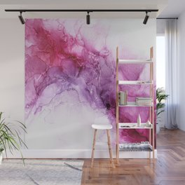 beautiful abstract art with fluid liquid paint Wall Mural