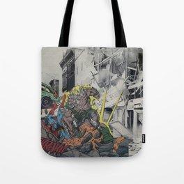 It's Doomsday, Doomsday! - Vintage Collage Tote Bag