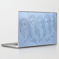 fifth harmony Laptop & iPad Skins featuring Fifth Harmony Cartoon by Julia