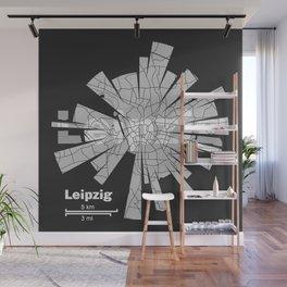 Leipzig Map Wall Mural