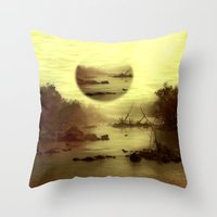 jazzberry Throw Pillows featuring Illusive visions float above my head... by Donuts