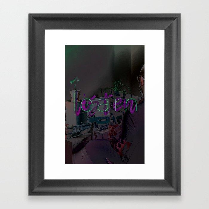 Learn / Listen Framed Art Print