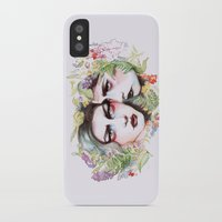 goth iPhone & iPod Cases featuring Spring Goth by Sarah Cannon