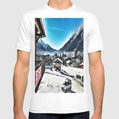 Le Tour France White Mens Fitted Tee MEDIUM