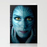 avatar Stationery Cards featuring Avatar by Karel Stepanek