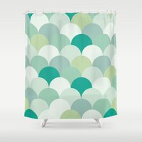 scales Shower Curtains featuring SCALES by Sarah Stark