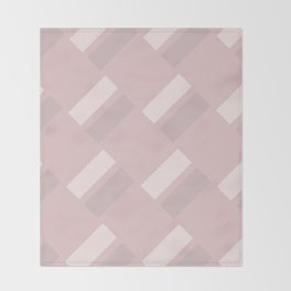 Neapolitan Pink Blush Throw Blanket
