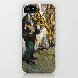 street musician playing on violin iPhone Case