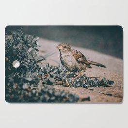 Summer Sparrow. Bird Photograph Cutting Board