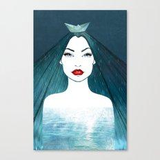 Rainy girl Canvas Print