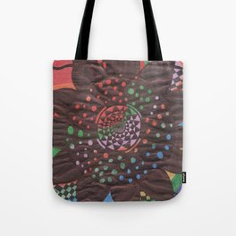 Colorful background with flower Tote Bag