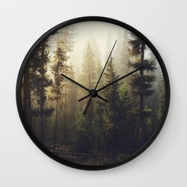 Sunrise Forest Wall Clock