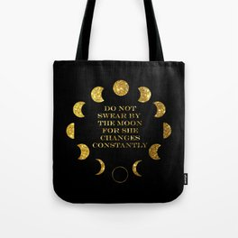 Moon Phases Gold Tote Bag