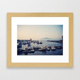 Sorrento Marina at Sunset  Framed Art Print