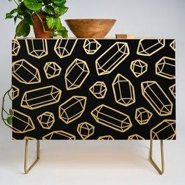 Black & Gold Crystal Pattern Credenza