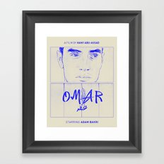 Omar (Blue Version) Framed Art Print