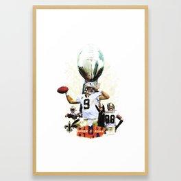 Super New Orleans Saints NFL Football Framed Art Print
