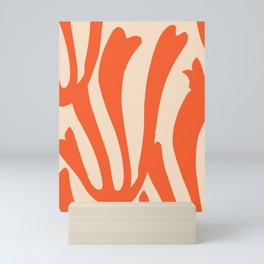 Coral in red Mini Art Print
