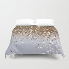 Sparkling Champagne Gold Glitter Glam #1 #shiny #decor #art #society6 Duvet Cover