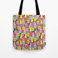 gnome Tote Bags featuring Mister Gnome by Lydia Meiying