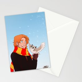 Ron and Pigwidgeon Stationery Cards