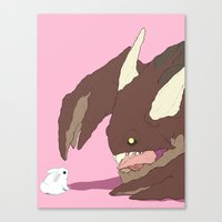 bunnies Canvas Prints featuring Bunnies by bloozen