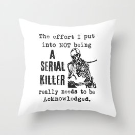 Inner serial killer Shirt, Inner serial killer, serial killer Shirt Throw Pillow