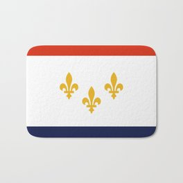 flag of new orleans,NOLA, Crescent City,Big Easy, Nawlins, jazz,Lousiana,french,cajun,treme Bath Mat