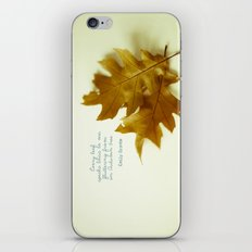 Every leaf speaks bliss iPhone & iPod Skin