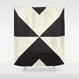 Split X Black Shower Curtain