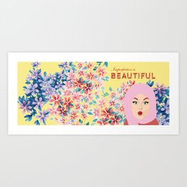 Imperfection is BEAUTIFUL (Yellow) Art Print