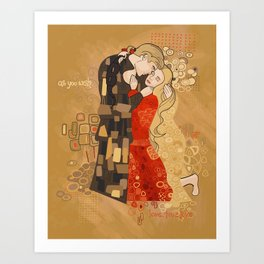 The Invention of the Kiss Art Print